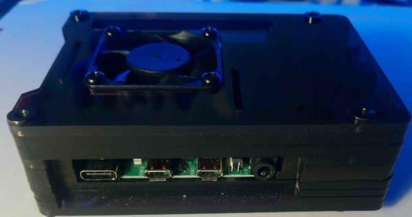 PicturWall, boite électronique de côté